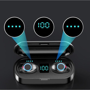 2021 Best Hot Wireless Earphone Bluetooth V5.0 F9 TWS Headphone HiFi Stereo Earbuds LED Display Touch Control 2000mAh Power Bank Mic Headset
