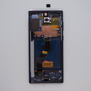 Pantalla LCD para Samsung Galaxy Note 10 N970 AMOLED PANTALLA DE PANTALLA TOCA DE PANELES DE DIGITANTE CON MARCO NEGRO