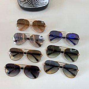 Üst Sınıf Güneş Gözlüğü Anti UV100 Oval Çerçeve erkek Ve kadın Yeşil Yılan Altın Çerçeve Kahverengi Güneş Gözlüğü RC 1091 Gözlük Çantası Tam Çerçeve Ile