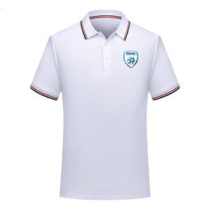 Мужчины Израиль Национальная команда Футбол Поло рубашка Футбол с коротким рукавом рубашка поло Летняя мода Обучение поло Блубочки футбол Джерси мужские поло