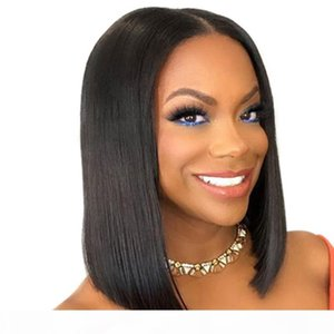 360 Frontal Full Lace Human Hair Wigs Pre Plucked With Baby Hairs Virgin Peruvian Straight Glueless Short Bob Human Hair Wig Cheap