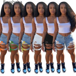Desinger Summer Femmes Courts Jeans Tassel High Taille Jeans De Mode Designer Vintage Shorts Hole Femelle Pantalon maigre 835-1
