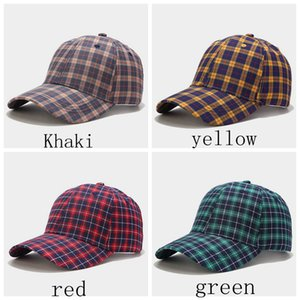 4 colors Fashion Plaid Baseball Korean Caps Spring Summer Autumn Winter Men Women Streetwear Snapback Hip Hop Cap Trucker Hat Plaid LLA395