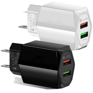 Smart Fast Quick Charge Eu US 2Ports Power Adapter Wall Charger Plug For IPhone 7 8 X XR Samsung Lg android phone