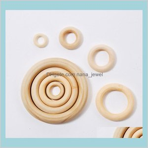 100 Pieces Lot 13-125Mm Natural Wood Wooden Circle Rings Bangles Loose Beads Jewelry Accessories For Bag Handle Necklace Kids Diy Kbx3 Iqp5Q