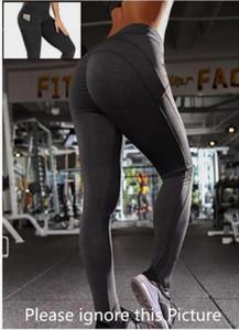 Sıcak Yüksek Bel Yoga Pantolon Capri ile 3 Cepli, Karın Kontrol Egzersiz Koşu Capri 4 Yollu Streç Yoga Tayt
