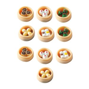 Bird Cages 10pcs Mini Steamed Buns Dumplings Chinese Food Adornments Small Statue Ornament