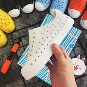 Allwesome Children Nativ Jelly Shoes Summer Croc Shoes Scarpe Kids Garden Shoes Beach Hollow Mules Clogs Candy Color Sandals J2023