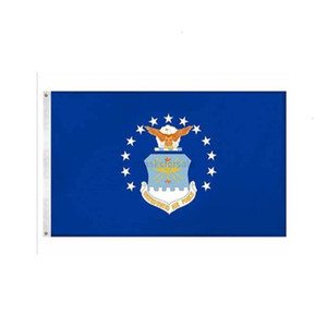 3' U.S. 5'ft Airforce x Military 100D Flags Polyester High Quality With Two Brass Grommets 79AB