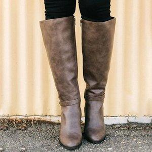 Botas de mujer de Monerffi Faux Suede Slim Boots Sexy sobre la rodilla Altas Mujeres Moda Invierno Muslo Alto Zapatos R8CA #
