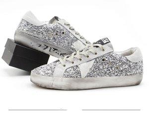 2021 Sternenhimmel Turnschuhe Goldener klassischer Doppel-High-Bodens Sternenhimmel Distressed Dirty Shoes Gans Designer Herren- und Damenschuhe G33MS590