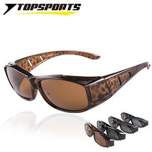 Topsports Lunettes de soleil Polaroid Contez sur les lunettes de soleil UV400 Protection Hommes Femmes Myopie Cadre Cadre lunettes pour la conduite de pêche marchant x0125