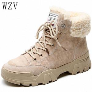 2019 New Inverno Neve Botas Short para Meninas Femininas Mulheres de Plush Boots Short Plus Velvet Sapatos de Algodão H481 U5ro #