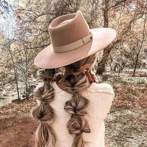 2021 Новая мода шерсть Fedoras Hat для женщин джазовые шерстяные шапки оптом Dropshipping MVJZ