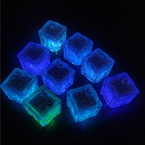 Led Ice Cube 7 Color Flashing Glow in The Dark Night Lights for Cafe Bar Club Drinking Party Wine Wedding Decoration