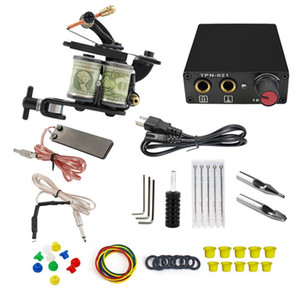 COmbo Tattoo Basic Machine Kit Shader and Liner Starter Kit for Beginners with Power Supply US EU AU UK Plug