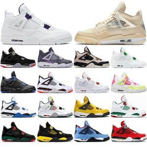 2021 Мода Женщины Мужчины Jumpman 4S 4 Баскетбольные Обувь Эспирена Карнавал МОССoon Blue Гриб Мужские Тренеры Тренеры Высококачественные Спортивные кроссовки 36-47