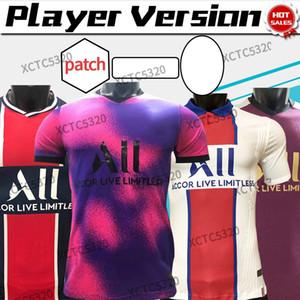 Versão do Jogador 2021 Paris Maillot Mbappe Iceardi Terceiro 4ª Jerseys 20/21 Home Away Soccer Shirt Verratti Futebol Uniformes