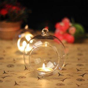 Горячая распродажа 60 мм висит висит Tealight Holder Globes Globes Terrarium Wedding Candle Holder Candlestick VASE Главная Отель Украшение 509 V2