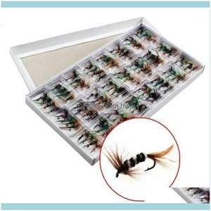 Baits Sports Outdoorsbaits & Lures 96 Pcs Set Various Dry Fishing Trout Salmon Flies Fish Hook Pesca1 Drop Delivery 2021 M526X