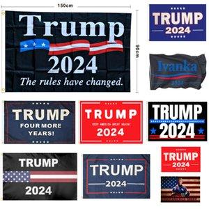 ترامب العلم 2024 الانتخابات العلم راية دونالد ترامب راية العلم إبقاء أمريكا عظيم مرة أخرى إيفانكا ترامب أعلام للمنزل حديقة ساحة HH21-63