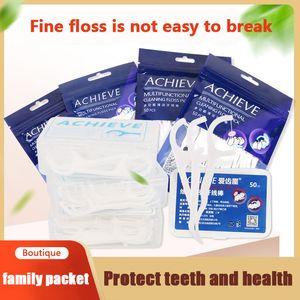 100 Pcs Lot Disposable Dental Flosser Interdental Brush Teeth Stick Toothpicks Floss Pick Oral Gum Teeth Cleaning Care