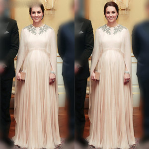 Arabic Appliques Beaded Evening Dresses Long Muslim Prom Gown Formal Gowns Long Sleeves Evening Gowns Robe de Soiree de Mariage