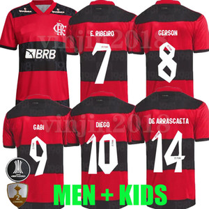 2021 2022 Flamengo Soccer Jerseys Player Version Camisetas de Fútbol Gabriel B. Diego 21 22 Pedro Gerson Hommes Enfants Femmes Uniformes de football