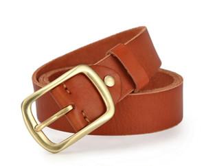 2020 Luxo Moda Marca Cintos para Cinto De Mens Cinto De Designer Top Quality Pure Copper Buckle Bets Couro Masculino Chastity Belt 125cm