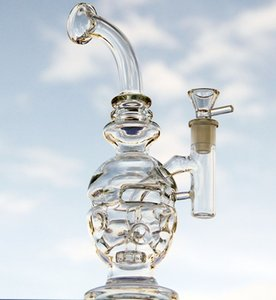 Clear Bong Water Pipes Classics Skull Beaker Dab Rig Bong Recycler Bent Neck Glass Oil Rrigs 14.5mm joint