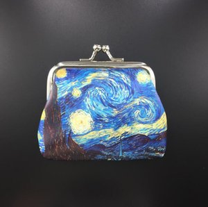 Printing Purse Gogh Van GC43 Art Painting Key Case Creative Coin Museum Souvenir Gift Oil Snpxp