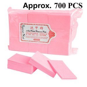 600 Pcs Bag Nail Polish Remover Wipes Cleaning Lint Free Paper Pad Soak off Remover Manicure tool