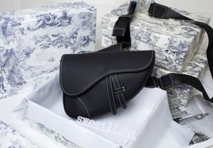 2021 with box handbag saddle men and women luxury design messenger bag high quality black personality single shoulder