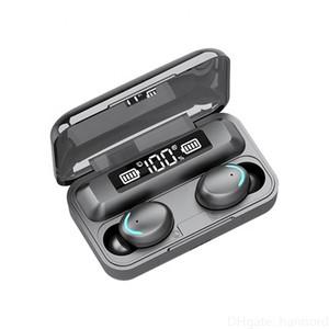F9-5 LED Light Tws HiFi Headphone Sport Earphone Headset Mini TWS 5.0 Wireless Earbuds With Mic 2000Ahm Charging Box