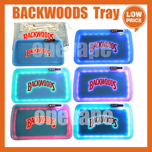 Backwoods LED Rolling Glow Tray Blue White Purple Christmas Gift set Cookies Rolling Glowtray Packaging Paper Box 420 Dry Herb cookies