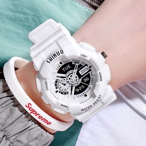 Sports Sile Watch, Male and Female Students, Jitter Tiktok, Korean Casual, Simple, Large Dial Quartz Watch