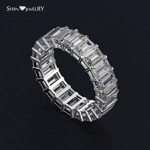 HBP fashion Shipai jewelry best selling pure silver zircon female simulation full row diamond 3 * 5mm ring
