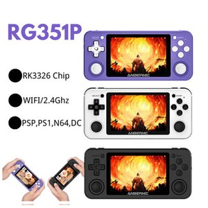 Hot R351P 3.5 inch IPS Handheld Retro Game Console RK3326 Open Source 3D Rocker 64G 5000 PS MD Video Music Games Player