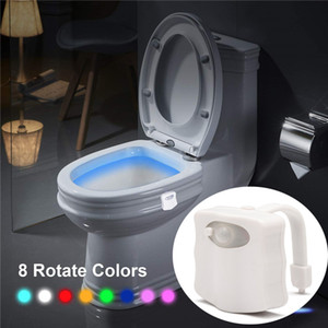 Akıllı PIR Hareket Sensörü Klozet Gece Lambası 8/16 Renkler Su Geçirmez Arka Işık Klozet için LED Luminaria Lamba WC Tuvalet Işık