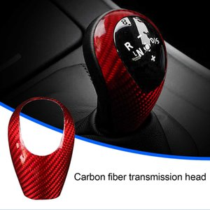 Real Carbon Fiber Car Gear Shift Knob Cover Stickers Trim Interior for BMW M3 M5 M6 Car Styling