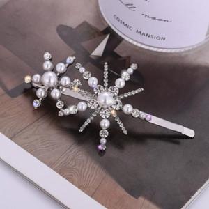 Nouvelle Fahsion Designer de luxe Femmes Clips Hair Bling Bling Lettre Strass Résine Barrette Cheveux Accessoires Bijoux