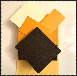 2021 Carteras de lujo 2021 Paris Plaid Style Style Mens Wallet Hombres famosos Cartera Especial lienzo Múltiple billetera pequeña pequeña con caja de polvo