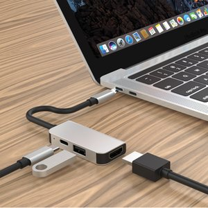 USB C Hub multiport Adapter Type C to USB3.0 HDMI PD charging for MacBook Pro, iMac, Samsung 3 in 1 slim conventer