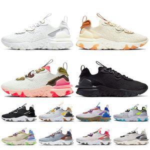 Nike React Vision Epic react element 55 87 off white Sıcak satış Stok x bayan erkek koşu ayakkabı Üçlü beyaz siyah Görüş Foton Toz eğitmenler sneakers