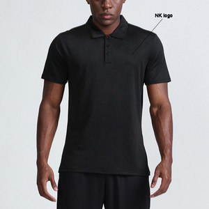 Summer 2021 sports Polo shirt men's casual quick-drying breathable brand logo short-sleeve t-shirt men's running lapel fitness clothes