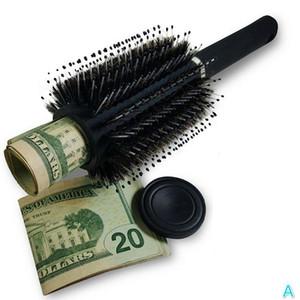 Brush Safe Hair Brush Secret Stash Box Hidden Secret Storage Box Key Safe Box Hollow Hair Comb Hide Money Home Secret Stash Boxes AA