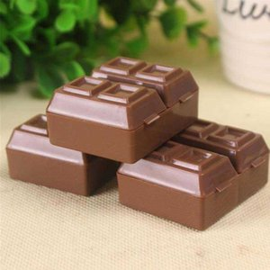 Pencil Sharpeners Lovely Creative Chocolate Office school Plastic Sharpener With Eraser For Kids Supplies Korean Student Stationery 7R2K