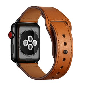 Genuine Leather Apple watch band loop 42mm 38mm Watchband for iWatch 44mm 40mm 5 4 3 2 1 Bracelet Accessories