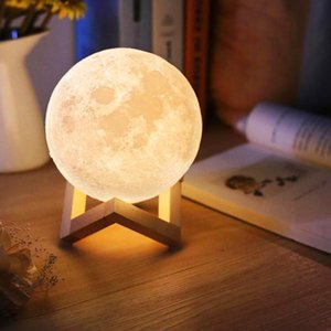 USB 3D Light Fixtures 8cm 10cm Lampada lunare Levitating Night Light LED Colore Modifica colore Touch Lighting Lampada