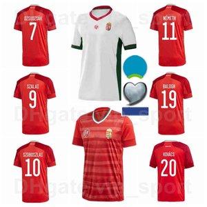Europa Copa National Social Hungria Futebol Jerseys Home 10 Szoboszlai 9 Szalai 23 Nikolic 6 Orban 8 Nagy 7 Dzsudzsak Camisa de Futebol Kits